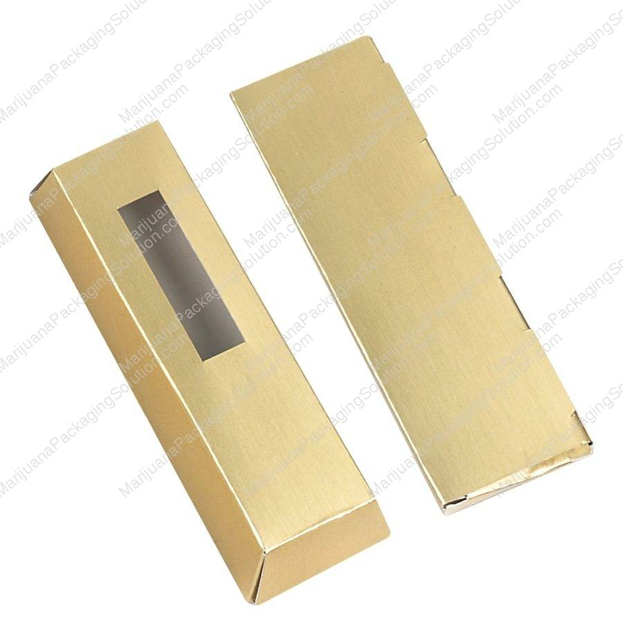 Trapezoid Box with gold foiling