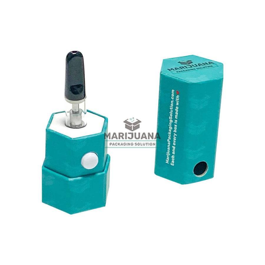 Hexagonal boxes-for-thc-oil-cartridges