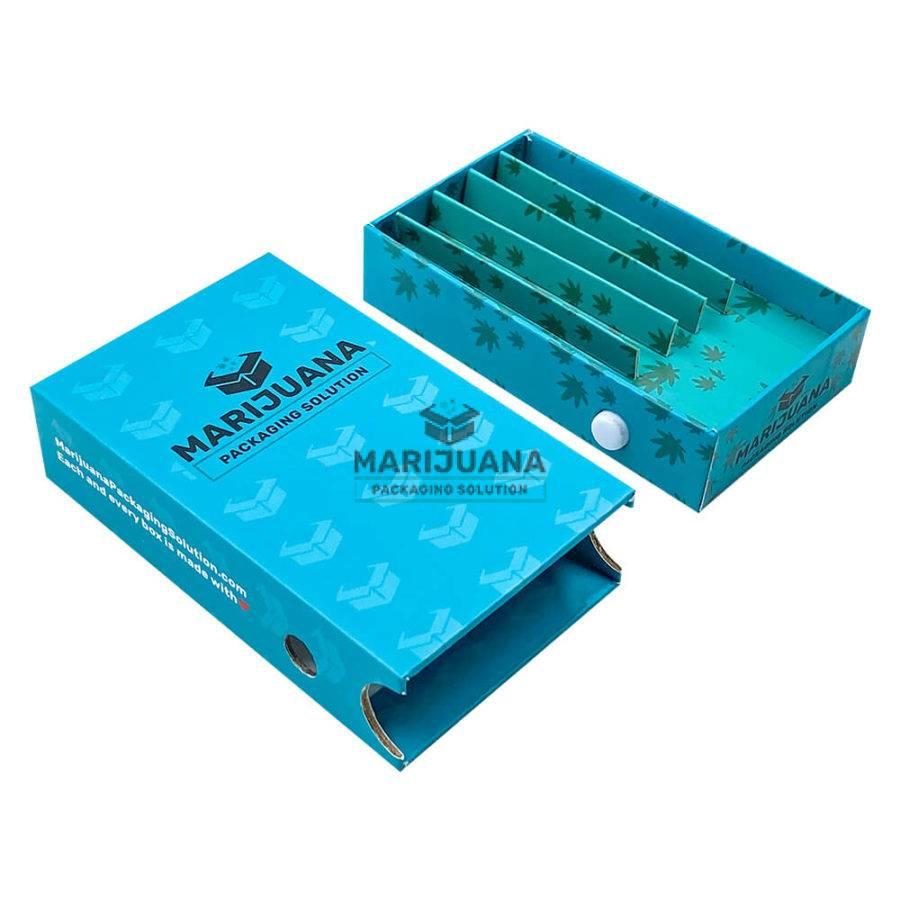 CR cardboard button box for pre rolls