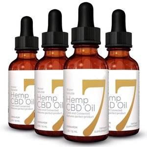 hemp oil dropper bottle
