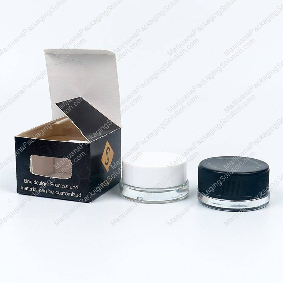 cannabis concentrate glass bottle custom paper box