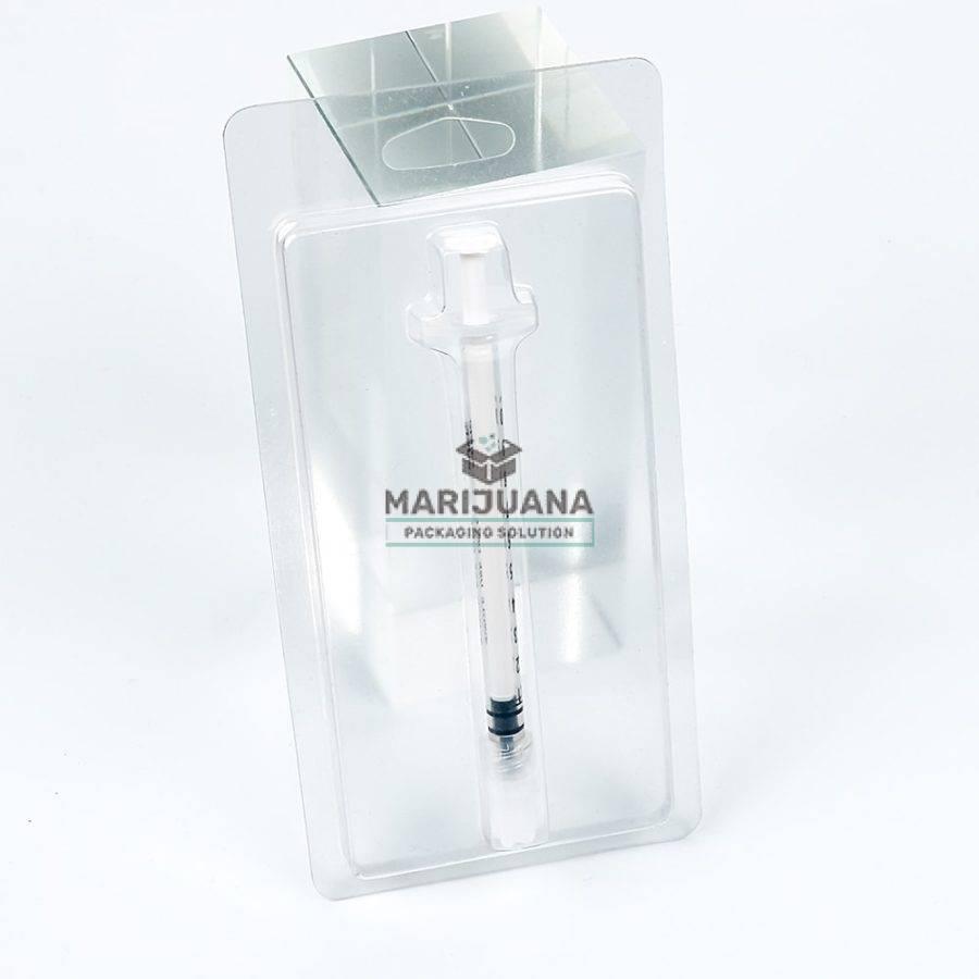 cbd oil syringe clamshell blister packaging