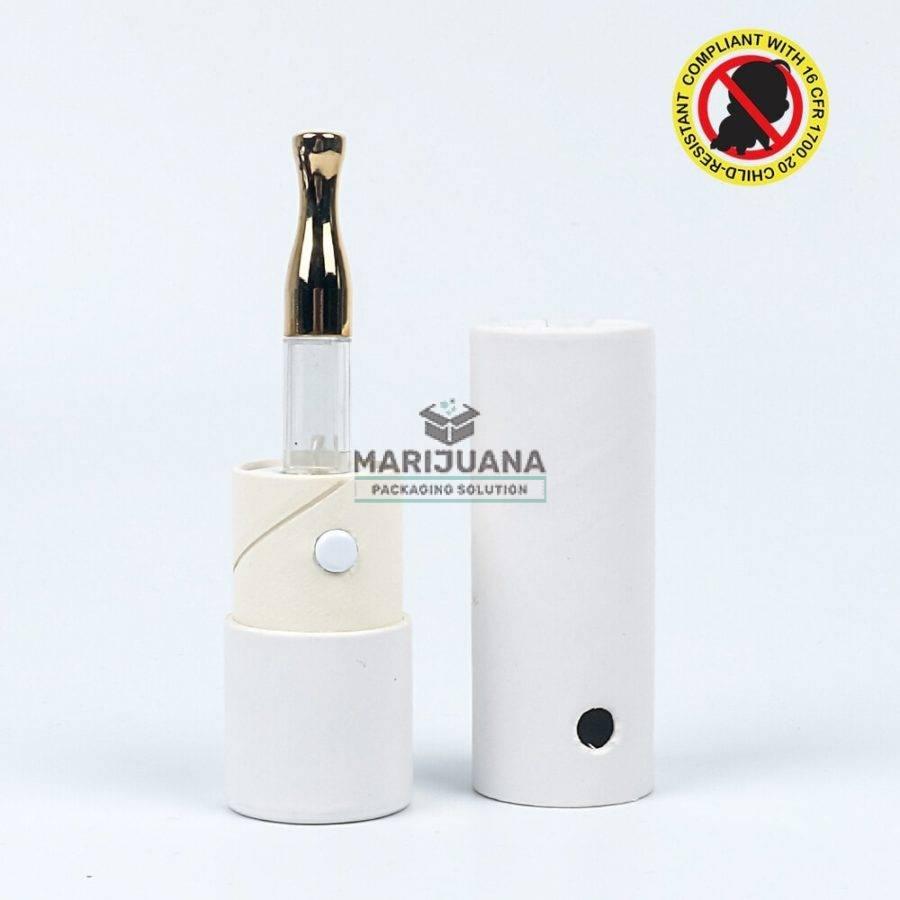 SafeCylinder Child-Resistant Cardboard Cylinder for vape cartridge
