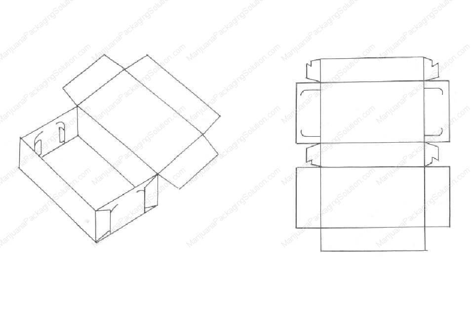 Socket type dish-shaped box with lid connection and corner of box using locking method.