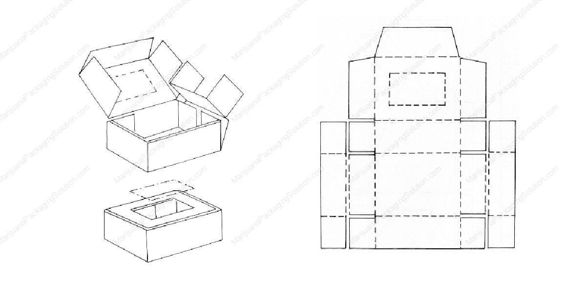 Assembly box with two to three layers of side walls