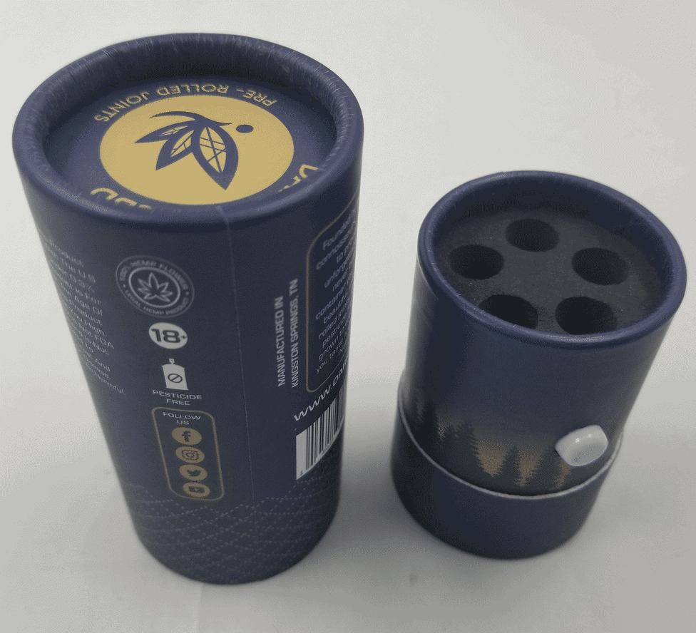 Child-resistant pre-roll tubes