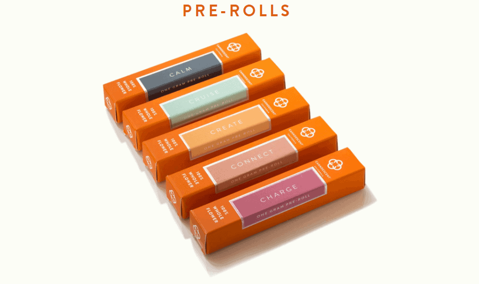Folding box for individual pre-roll