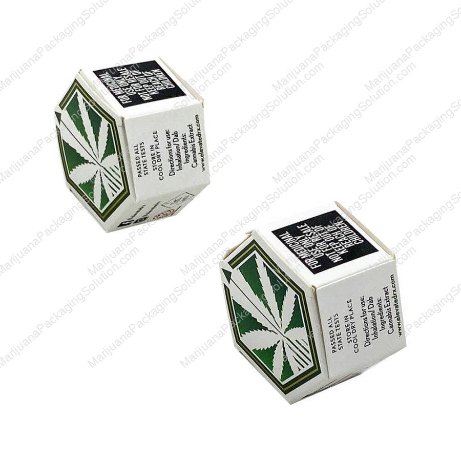 Custom hexagon boxes for CBD concentrates containers