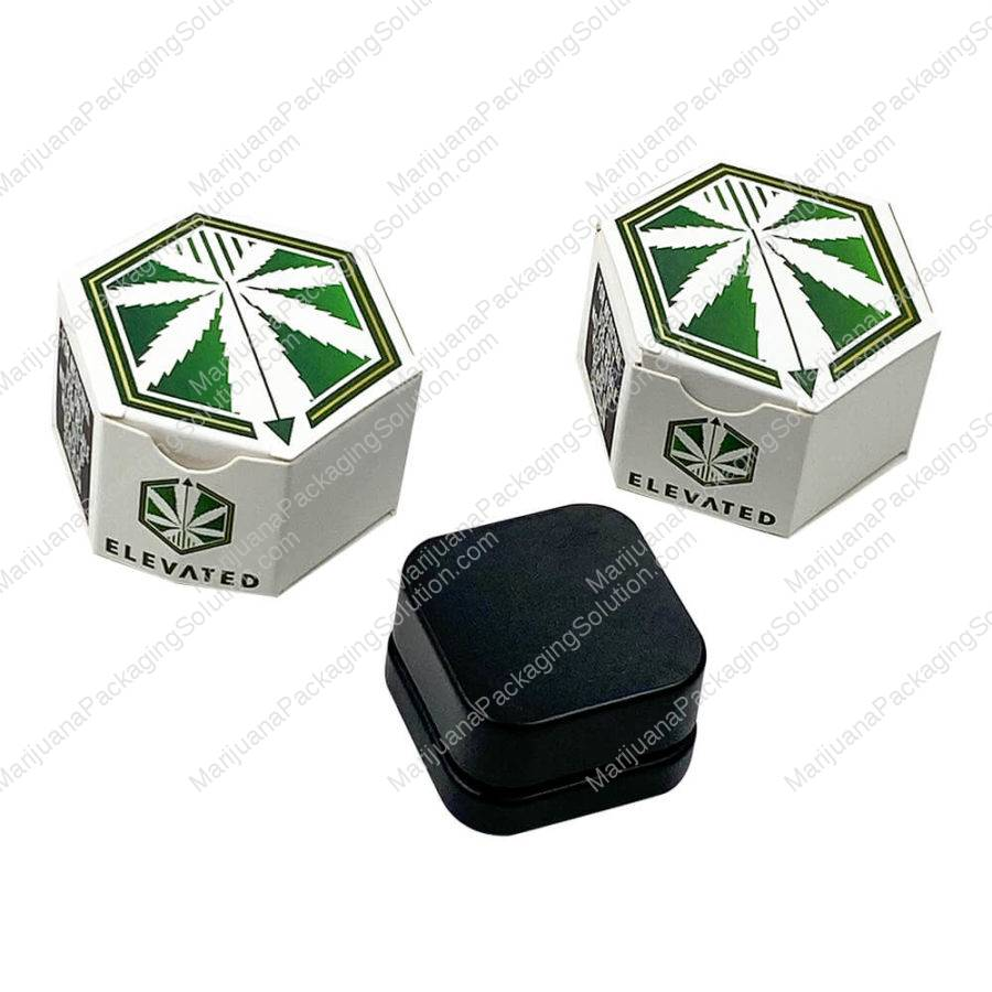 Hexagon Paper Boxes for Cannabis Wax Containers