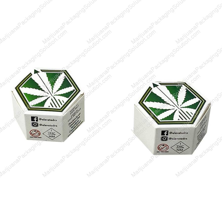 Hexagon shaped boxes for cannabis wax jars