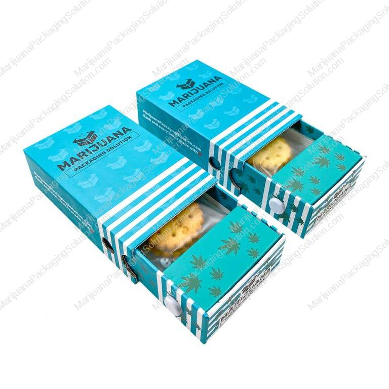 cannabis peanut butter cookies boxes