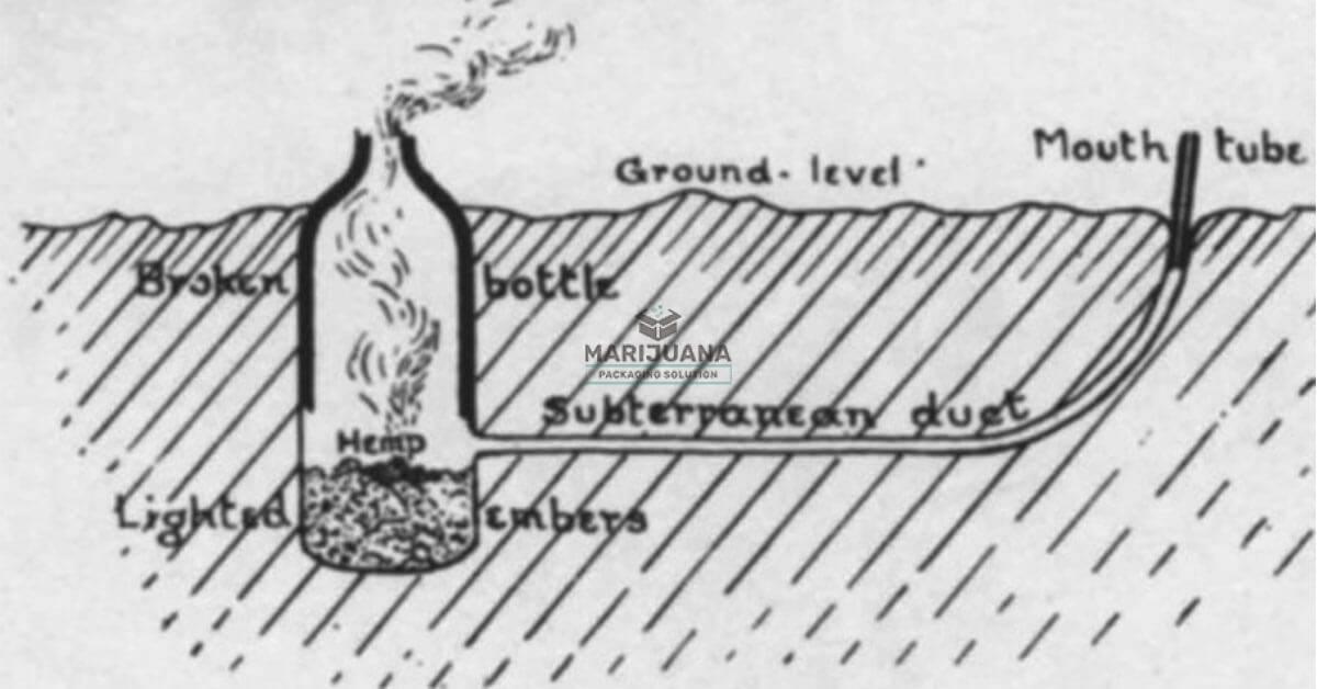 smoking-through-an-improvised-ground-pipe