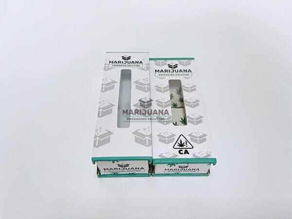 windowed custom vape cartridge packaging boxes