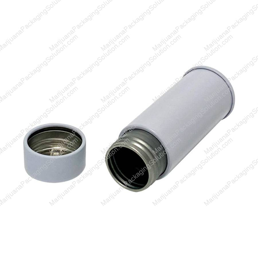round metal container for edibles and joints