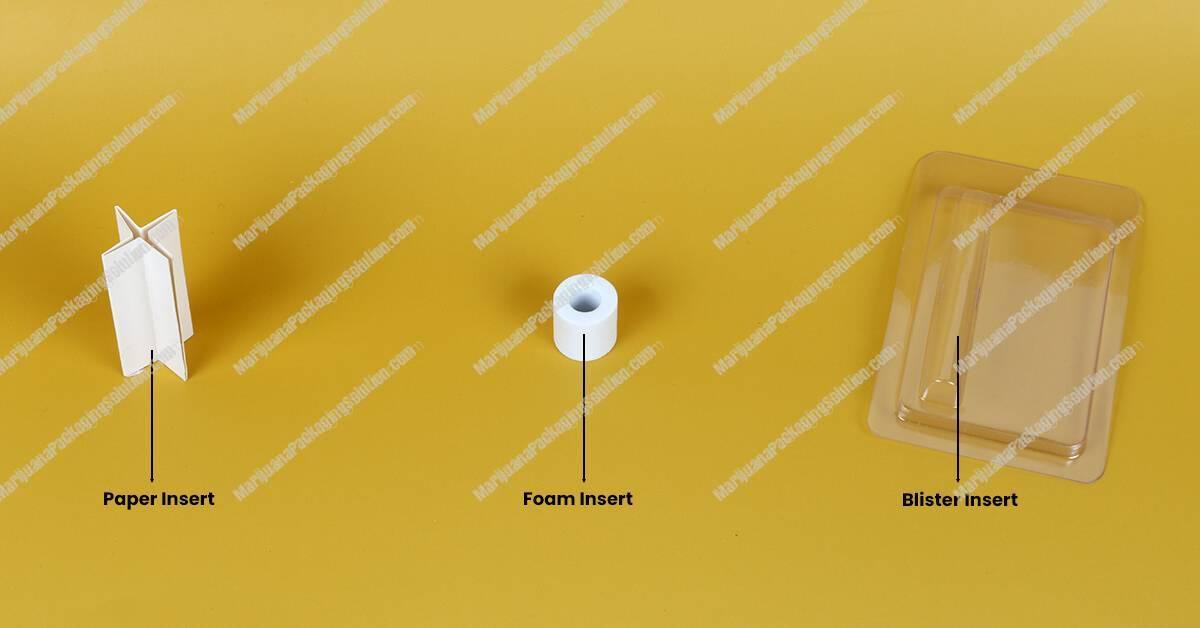 3 different inserts for paper tube packaging