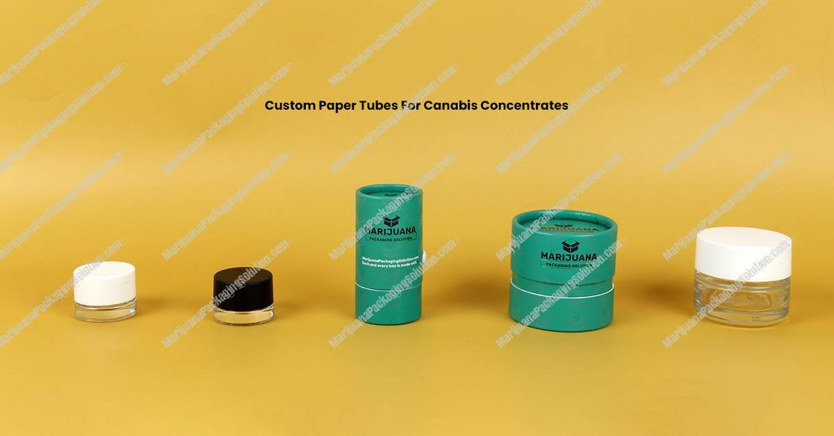 Custom Printing Tubes Packaging For Cannabis Concentrates