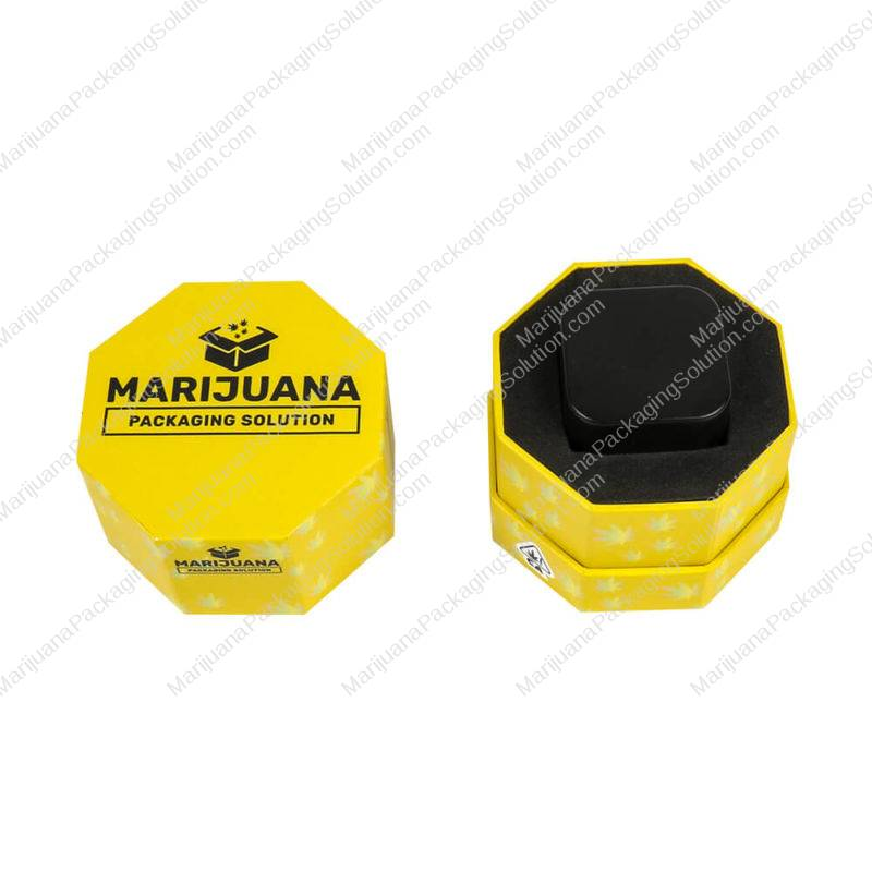 wax containers packaging hexagon boxes main pic
