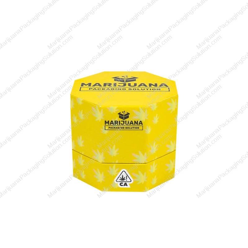 custom printing wax container hexagon boxes pic