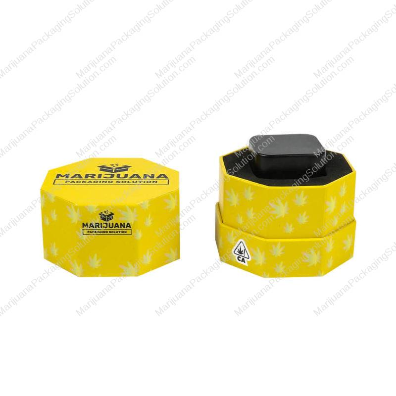 custom wax container boxes hexagon pic