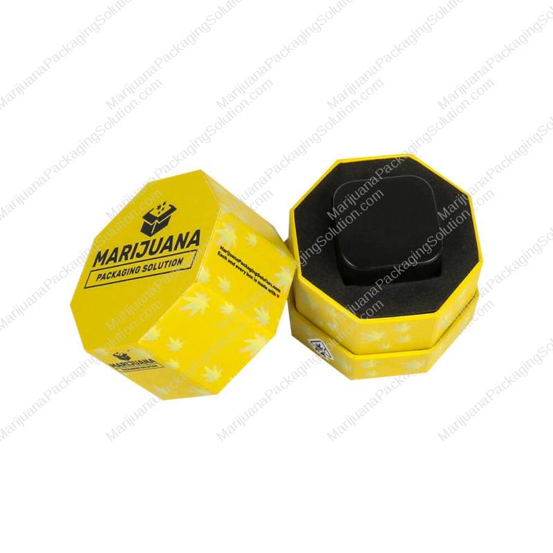 rigid wax container hexagon boxes pic