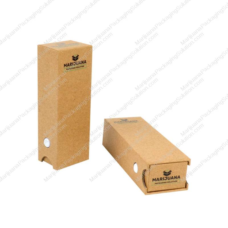 child-resistant kraft box for cartridge packaging pic