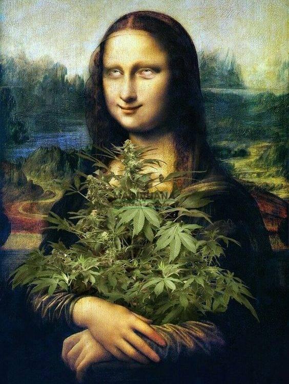 Marijuana Packaging Solution-Weed Art-Mona Lisa At Work