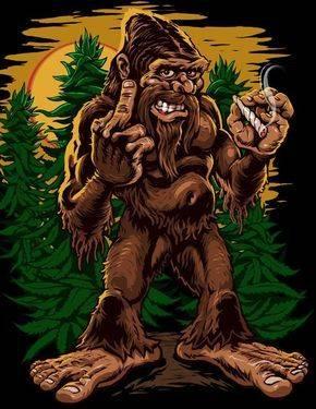 Marijuana Packaging Solution-Weed Art-Bigfoot Getting High