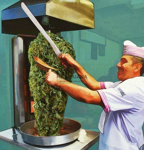 Marijuana Packaging Solution-Weed Art-Rotating Cannabis