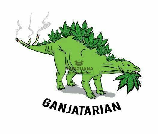 Marijuana Packaging Solution-Weed Art-Ganjatarian Dinosaur