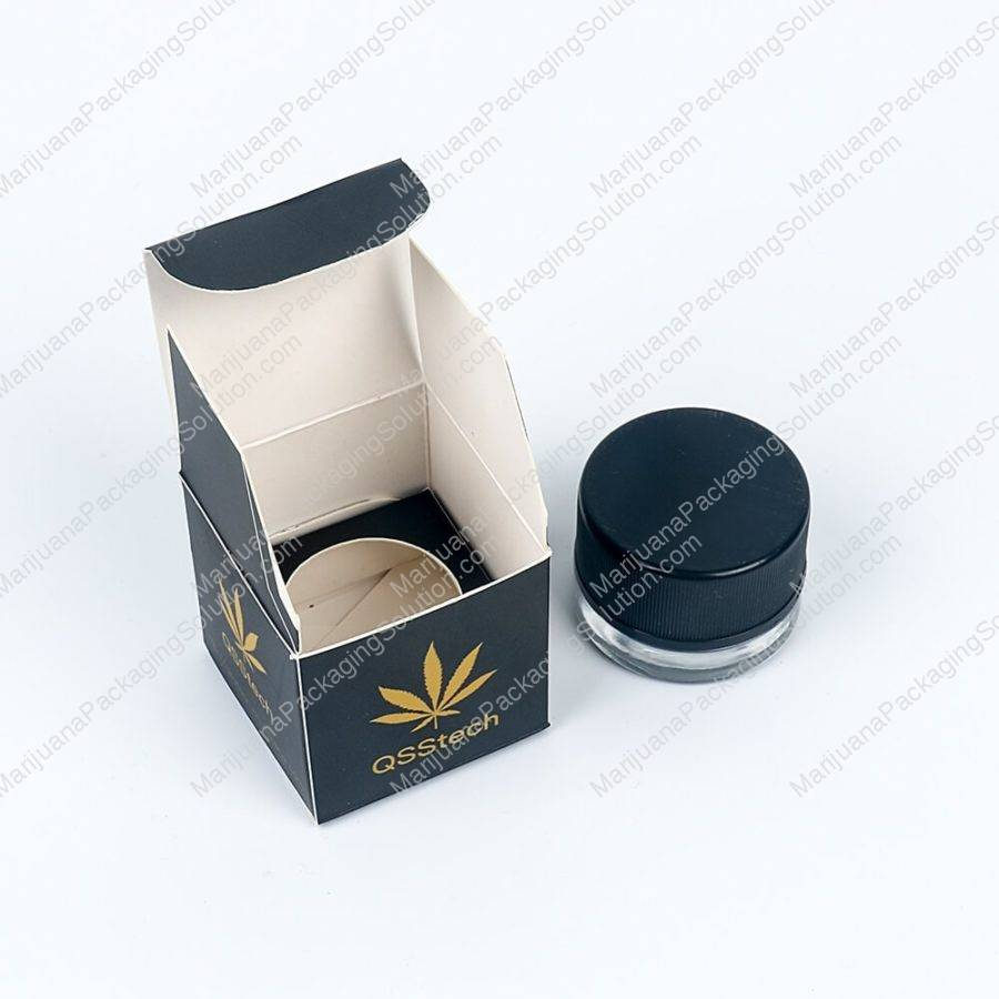 glass jars paper box custom printing