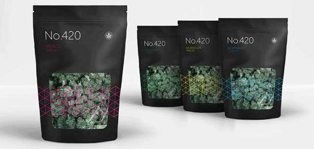 Pouches for cannabis flowers