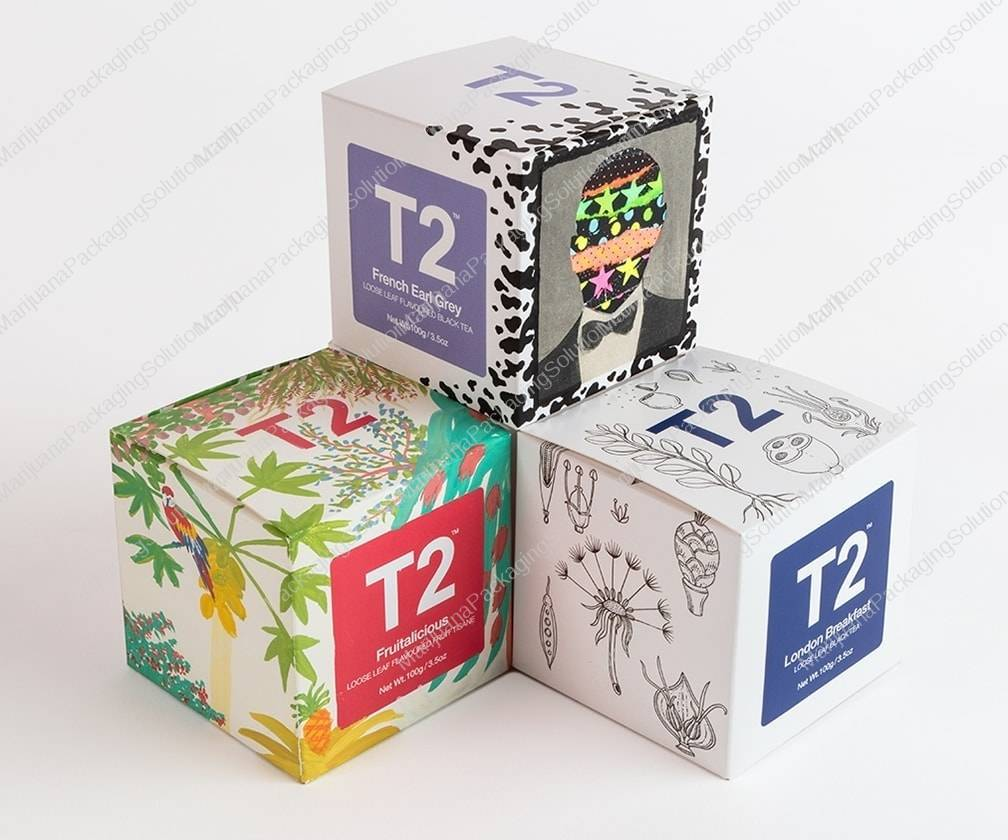 folding boxes as secondary packaging for cannabis flowers