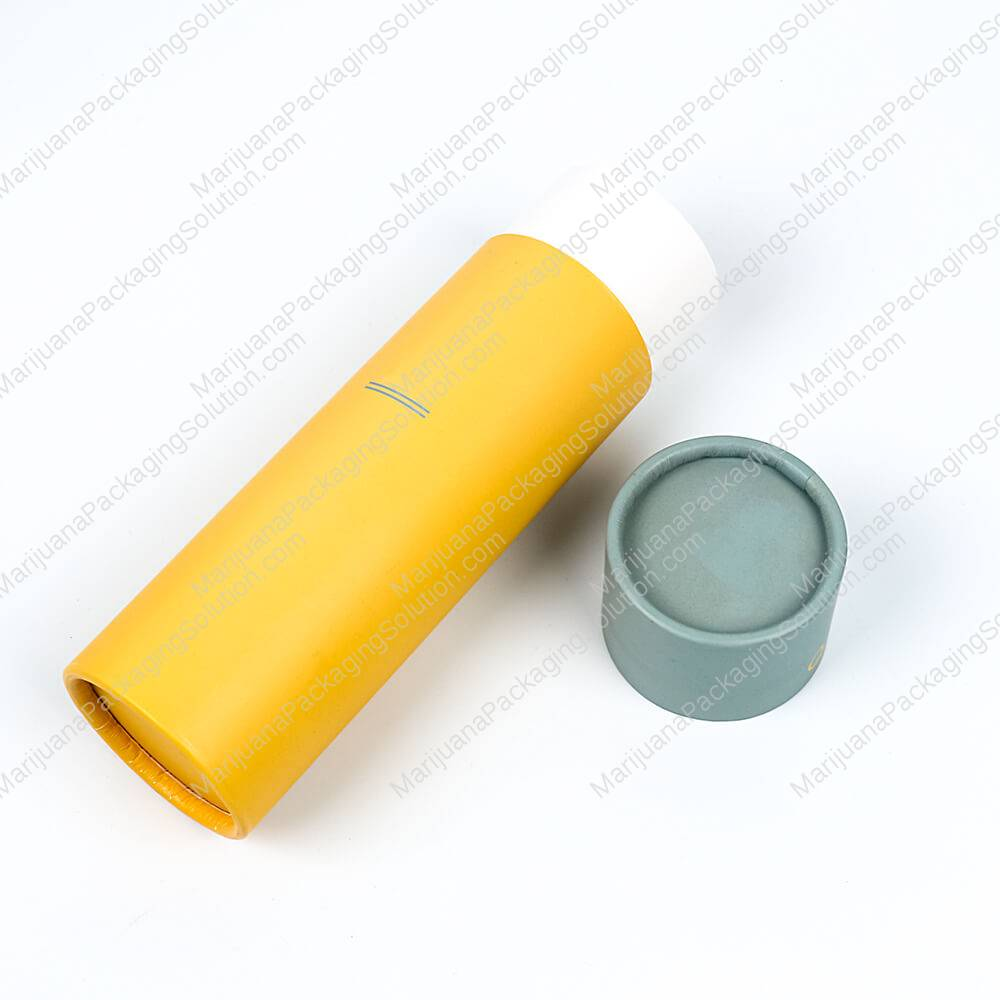 hemp oil dropper bottle paper tubes