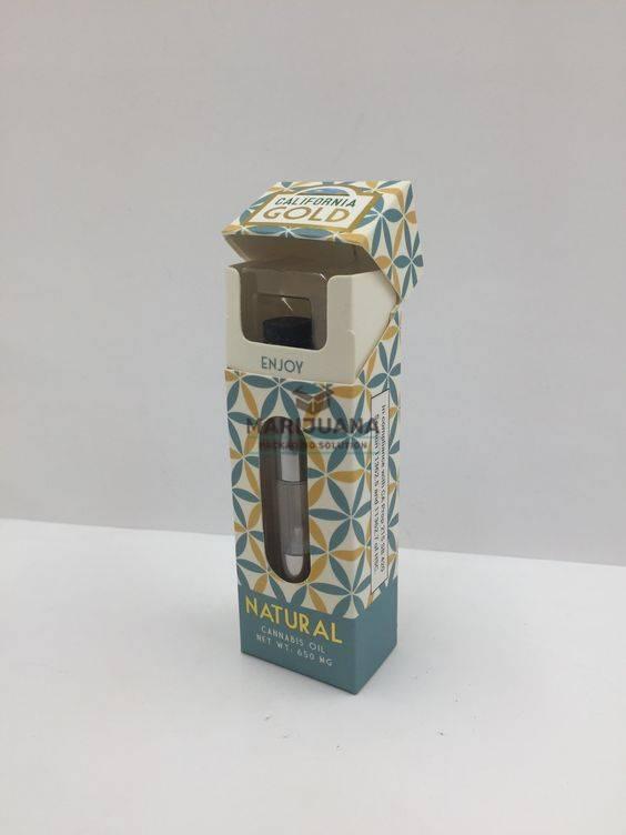 California Gold CBD cartridge box