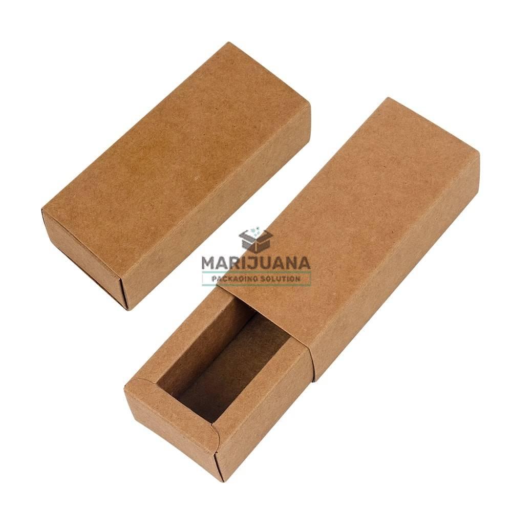 Kraft sliding box for CBD cartridge by Marijuana Packaging Solution