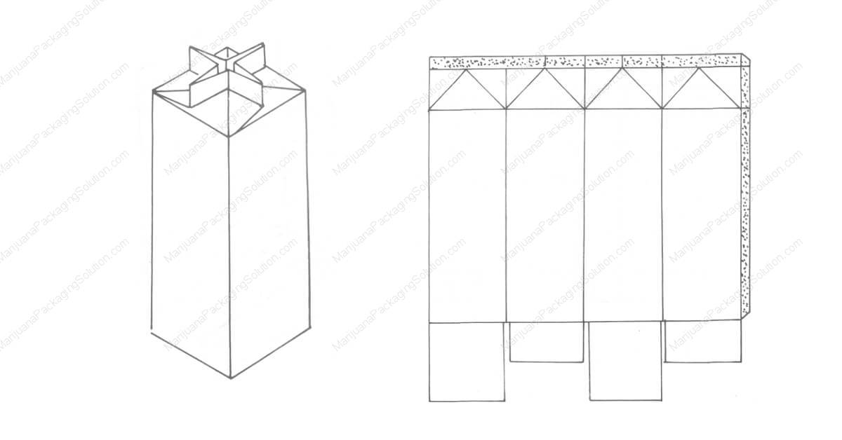 Composite box: bottom, top and side are sealed by sticking.