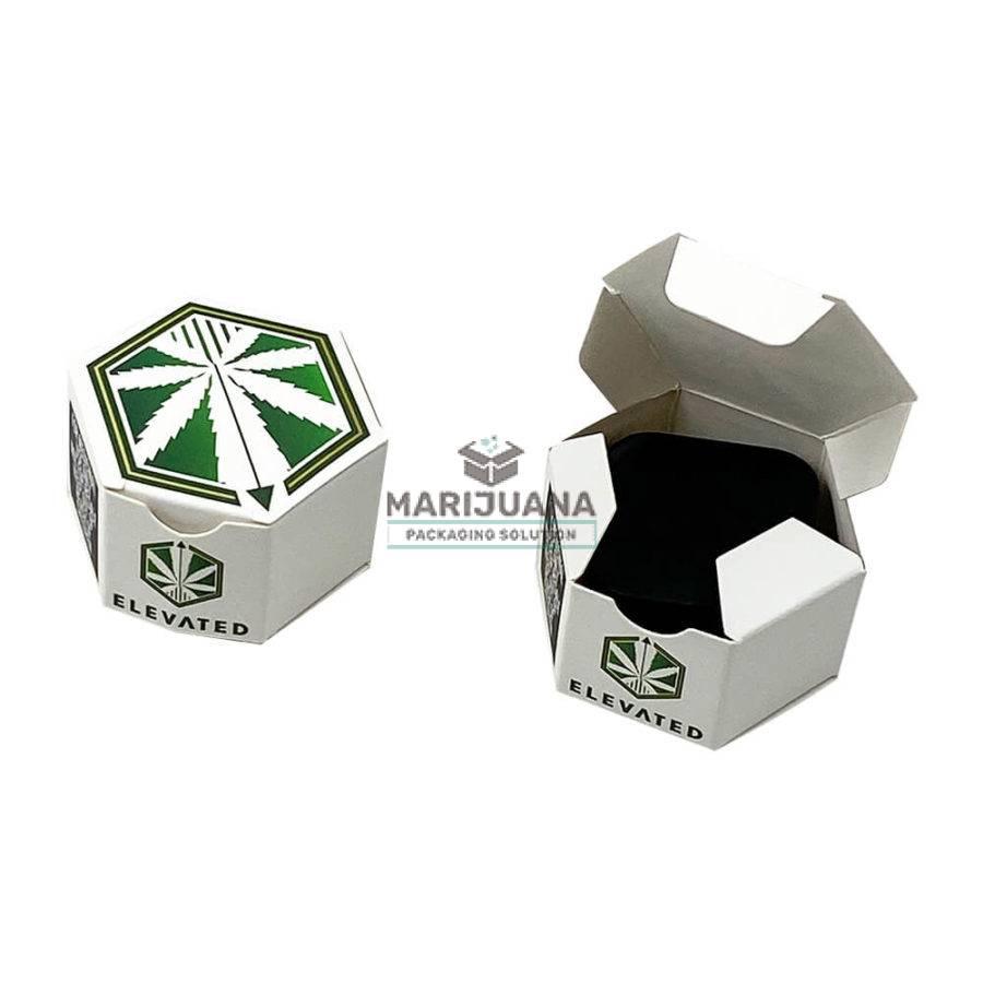 Custom printed hexagon box