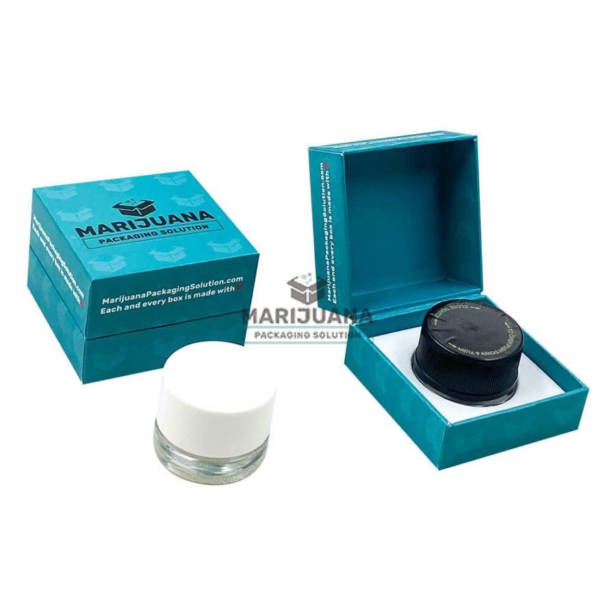 marijuana extracts container flip top rigid boxes