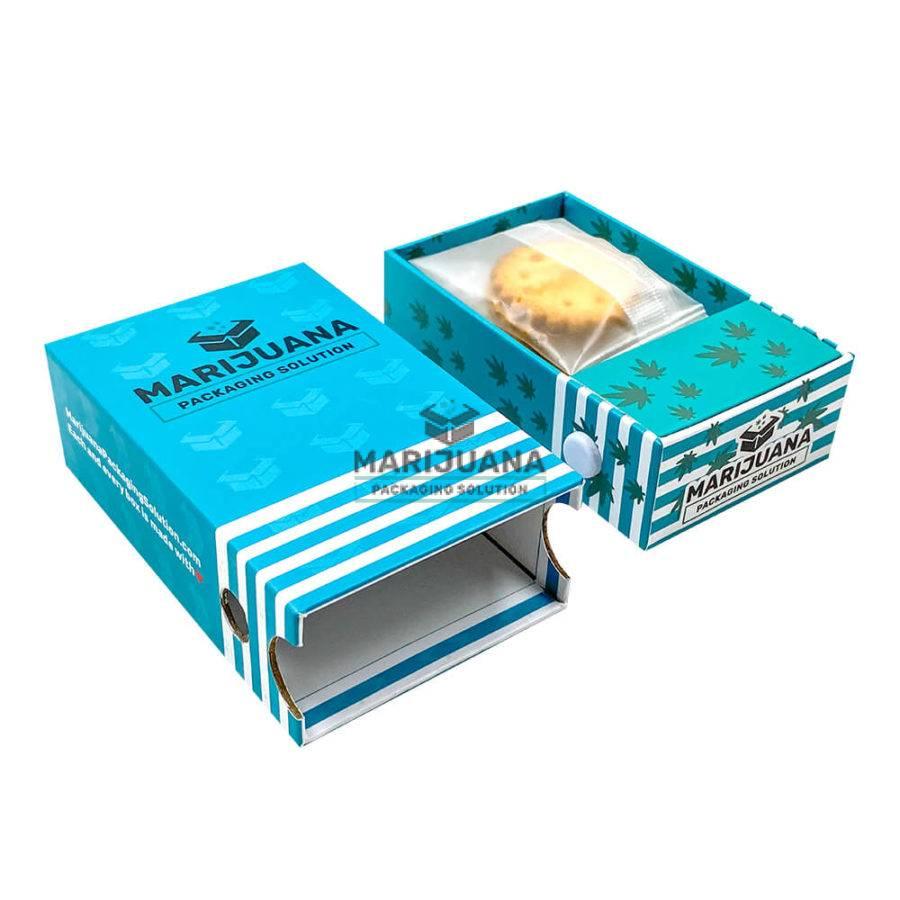 cannabis oil cookies paper box