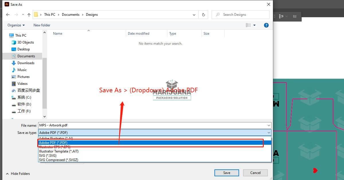 How to save PDF files in Adobe Illustrator for printing pic2