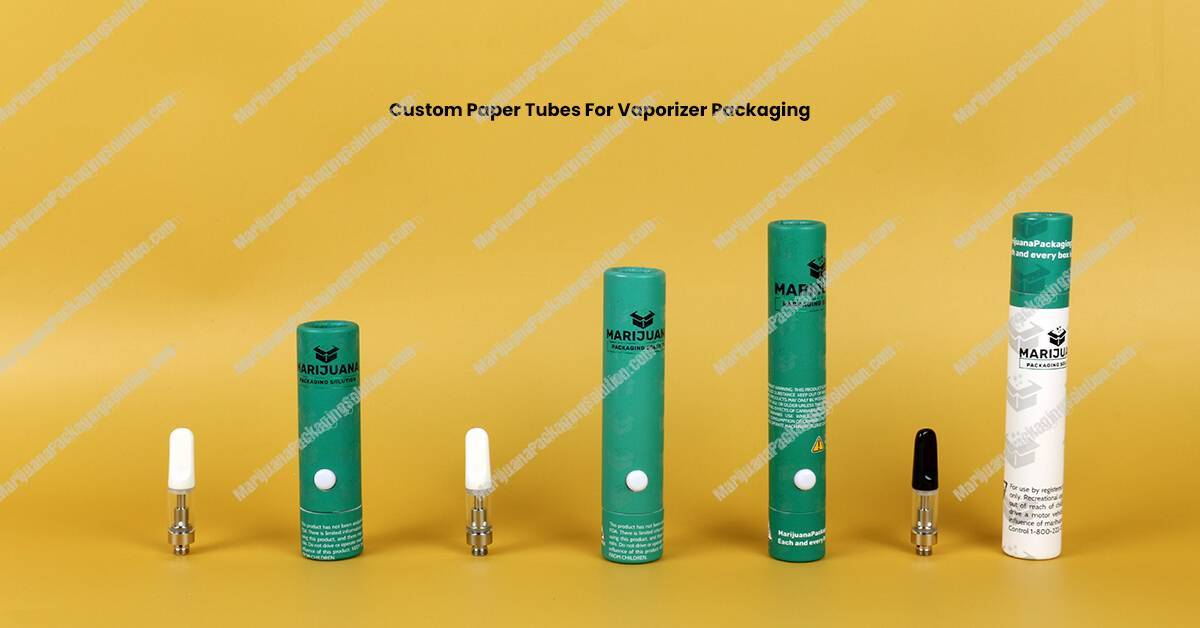 Custom Printing Cardboard Tube Packaging For Vaporizer Packaging